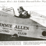 Newspaper Clipping Detailing Left Side of Aircraft